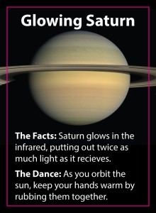 Solar System Dance card - Saturn.