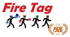 Fire Tag title graphic with IndieCade laurels.