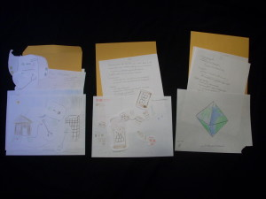 From those thirteen sets of scribbles, we advanced three concepts to the level of rough paper prototypes.